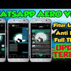 Download WhatsApp Aero Terbaru v8.22 Apk Aman Anti banned 2021