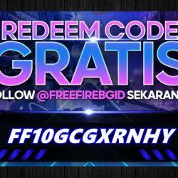 FF10GCGXRNHY Kode Redeem FF Terbaru Saat Ini