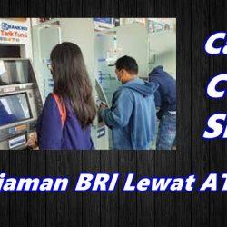 Cara Cek Sisa Pinjaman BRI Lewat ATM